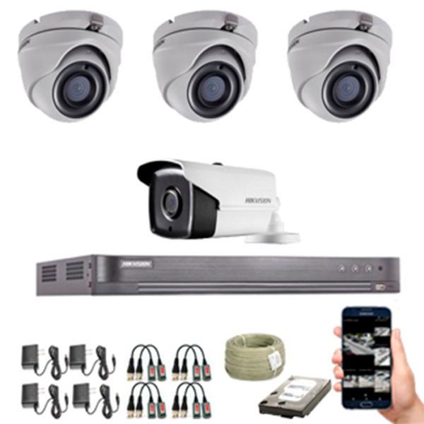 KIT CCTV HIKVISION TURBO HD 5 Mpx KIT-5
