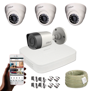 KIT CCTV DAHUA MINI DVR PENTAHIBRIDO KIT-7