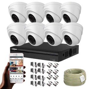 KIT CCTV DAHUA DVR PENTAHIBRIDO KIT-8
