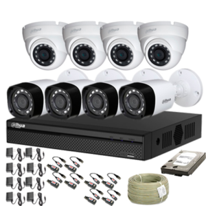 KIT CCTV DAHUA DVR PENTAHIBRIDO KIT-9