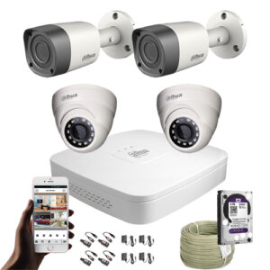 KIT CCTV DAHUA MINI DVR + 4 CAM KIT-2