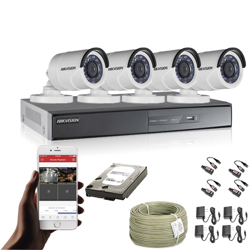 KIT CCTV HIKVISION TURBO HD DVR 8CH KIT-14