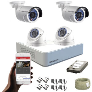 KIT CCTV HIKVISION MINI DVR TURBO CON DISCO DURO KIT-9