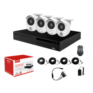 KIT CCTV NVR 2 MP 4 CH + 4 CÁMARAS DE SEGURIDAD LONGSE KIT-15