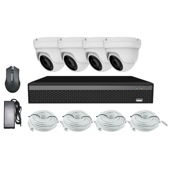 KIT CCTV LONGSE XVR 2MP 4CH NVR3604DP1HSF200 KIT-4