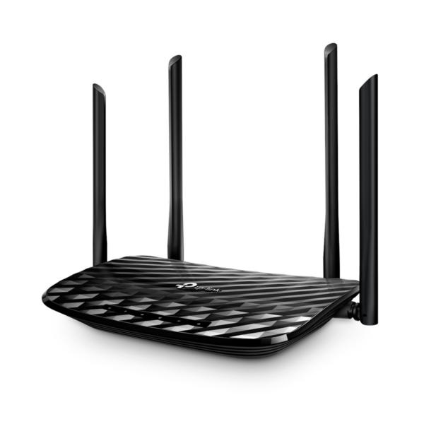 Router Gigabit Inalámbrico MU-MIMO de Banda Dual AC1200 TP-Link - Archer A6