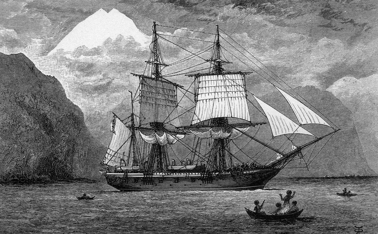 Charles Darwin's Ship Beagle