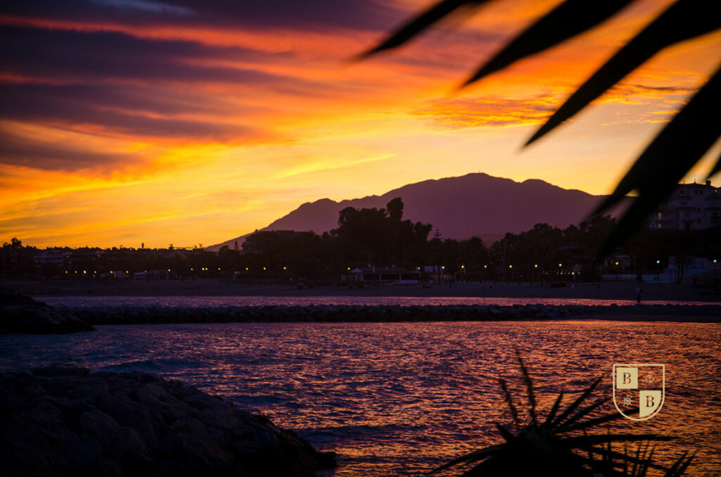Sunset in Puerto Banus, Marbella, Spain