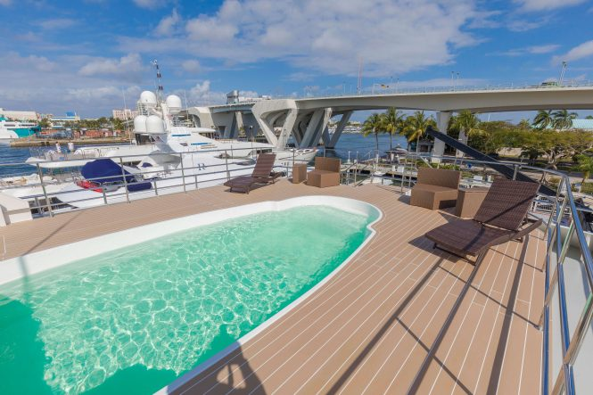 Global – large swimming pool and deck