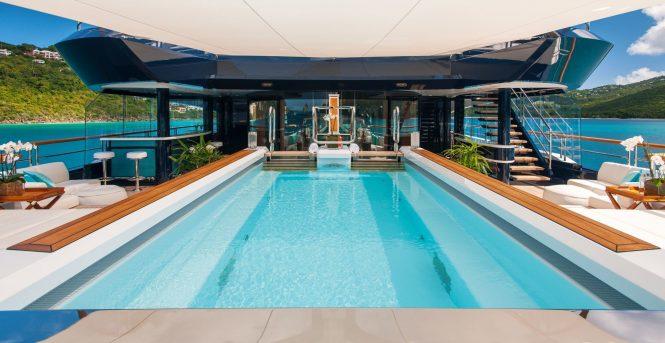 Swimming pool – Lurssen superyacht Solandge