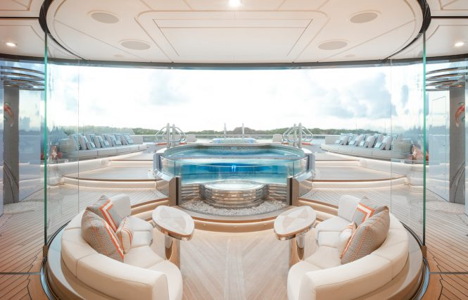 Yacht KISMET by Lurssen Yachts – Sundeck - Extraordinary swimming pools