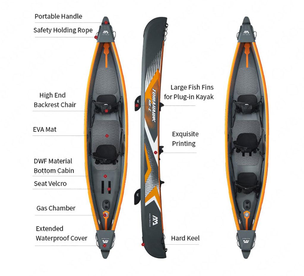 AQUA MARINA TOMAHAWK-Air-C Top 10 inflatable kayaks under 1000