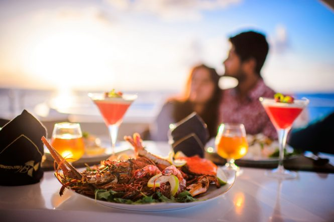 Delicious onboard meals