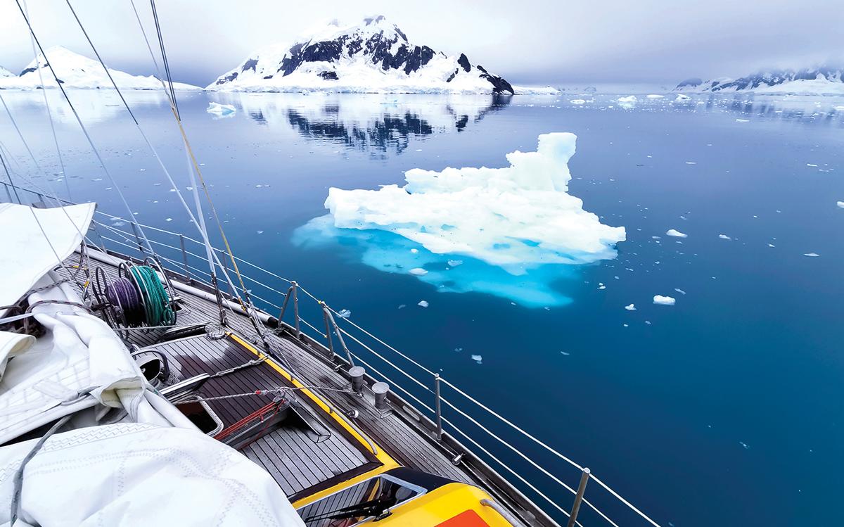 Sailing Antarctica nick moloney Ocean Tramp ketch Paradise Bay growlers