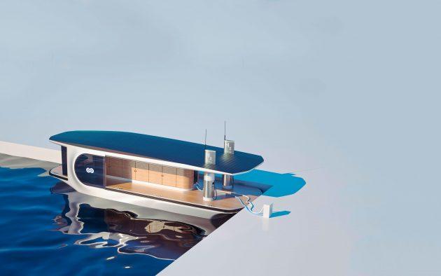 Hydrogen power: Is the future of onboard power here? YAW263.hydrogen fuel.stationflottanteelectrolise1 630x394 1 BB Yacht Charter Marbella