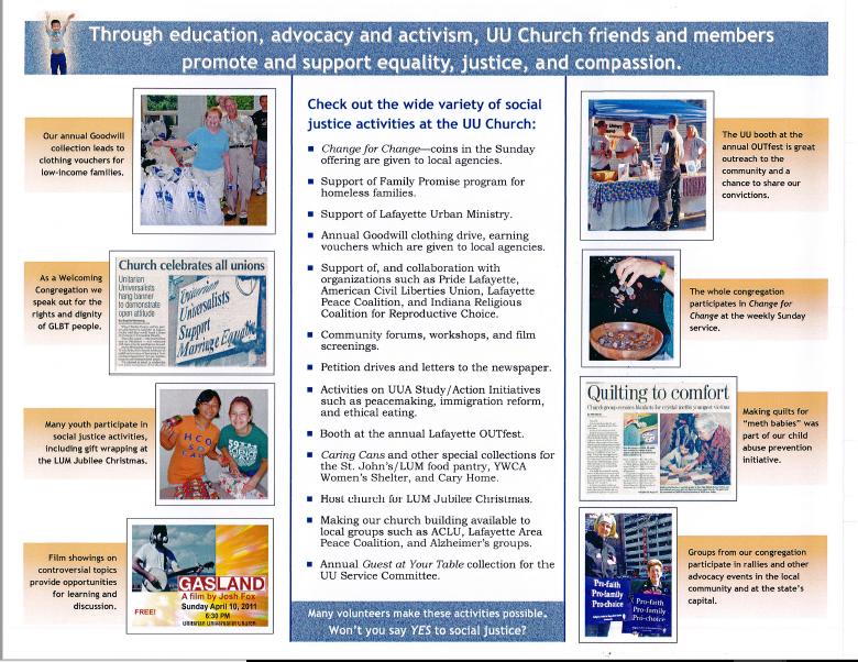 Social Justice Committee Brochure