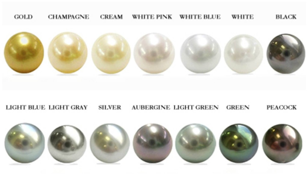 The color of the pearls