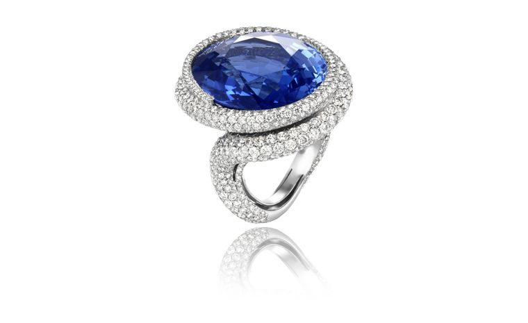 Chopard, one-off blue 43.67-carat sapphire ring