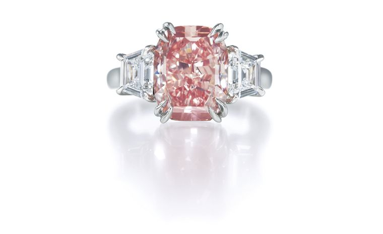 Harry Winston Pink Diamond Ring