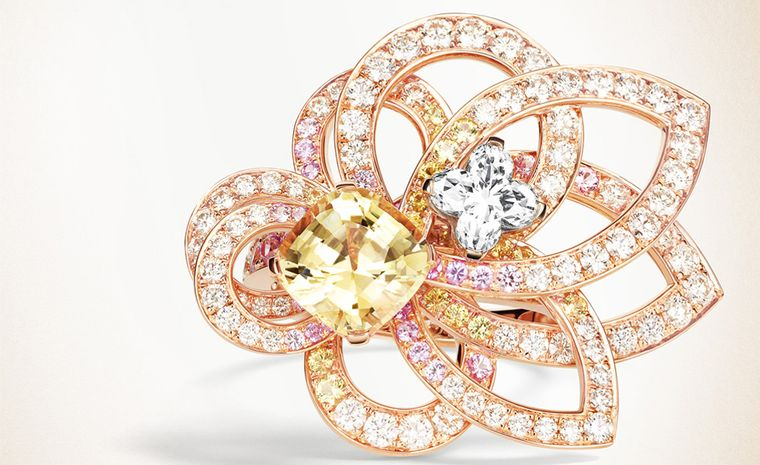 Louis Vuitton, L'Ame du Voyage yellow diamond ring in rose gold