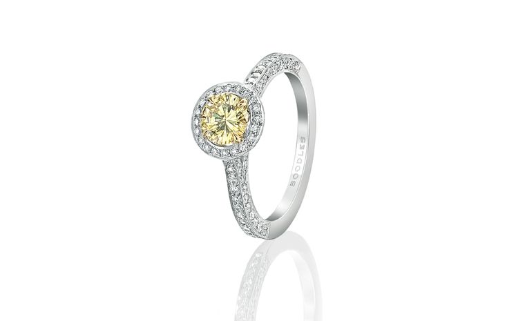 Boodles Vintage yellow diamond ring £15,000