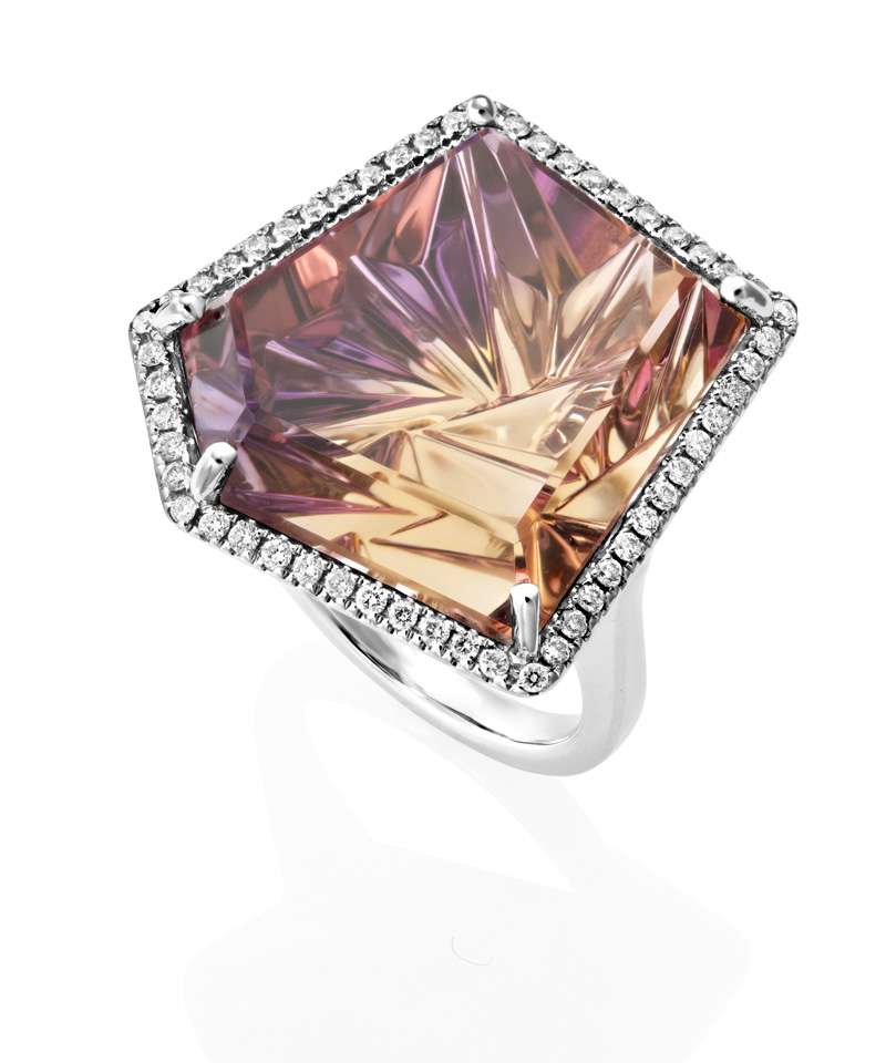 Sheldon Bloomfield Ametrine and Diamond Ring