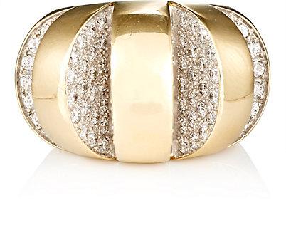 MAHNAZ ISPAHANI VINTAGE Diamond Cutout Ring