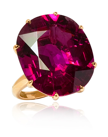 Rubelite Cocktail ring from the Stephen Russell Collection.