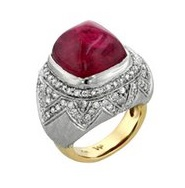 Ashley Morgan pink Tourmaline dome ring, price upon request For information: ashelymorgandesigns.com