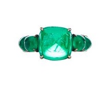 VHB Sugar Loaf Cabochon emerald ring, $77,600 modaoperandi.com