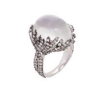 Sidney Garber Moonstone Flame ring, $13,675 For information: sidneygarber.com