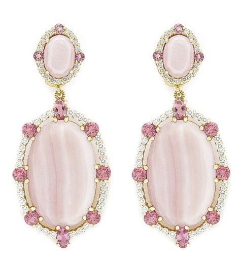 Town And Country Pink Mother Of Pearl Organic Slice Earrings