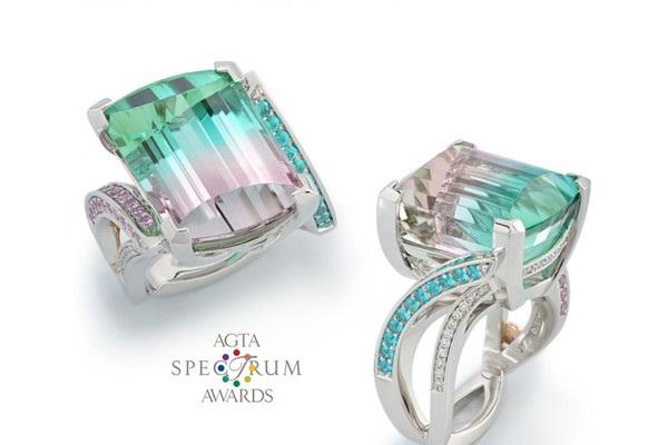 17.76ct Tri-Color Tourmaline Ring