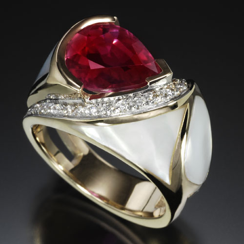 Hot-Pink Sapphire Ring