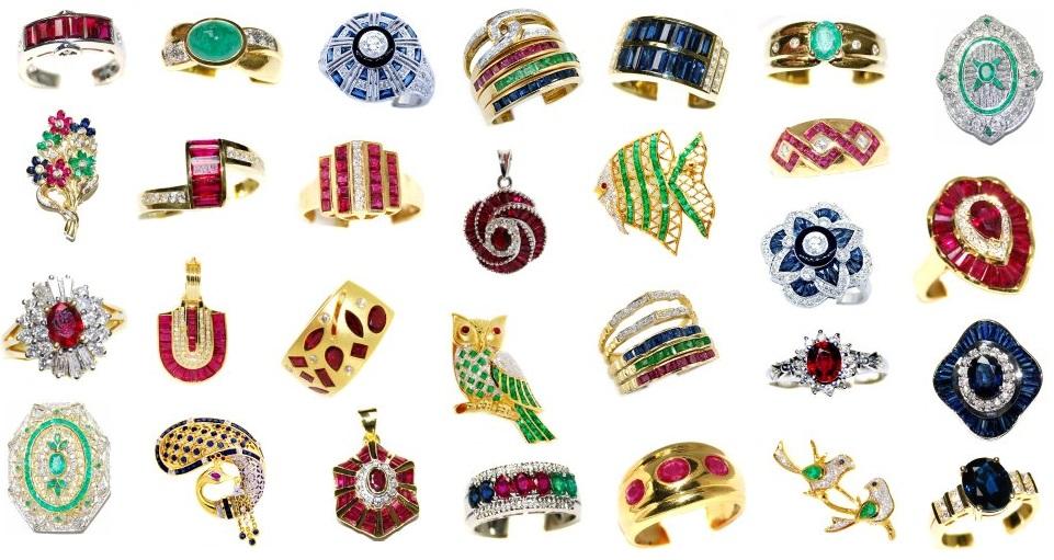 Gorgeous Vivid Gemstone and Diamond Jewelry