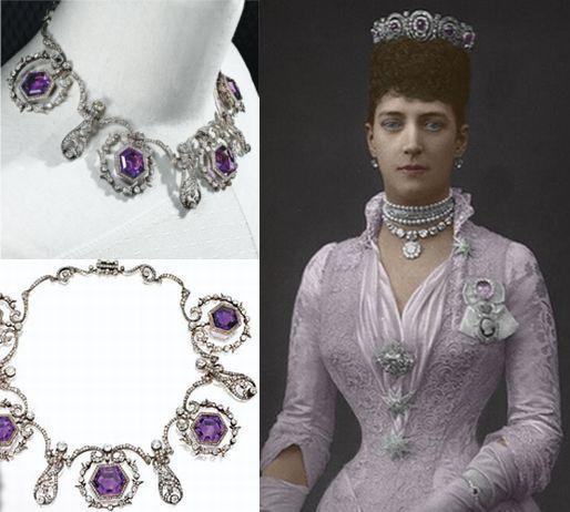 Amethyst necklace/tiara belonging to Queen Alexandra