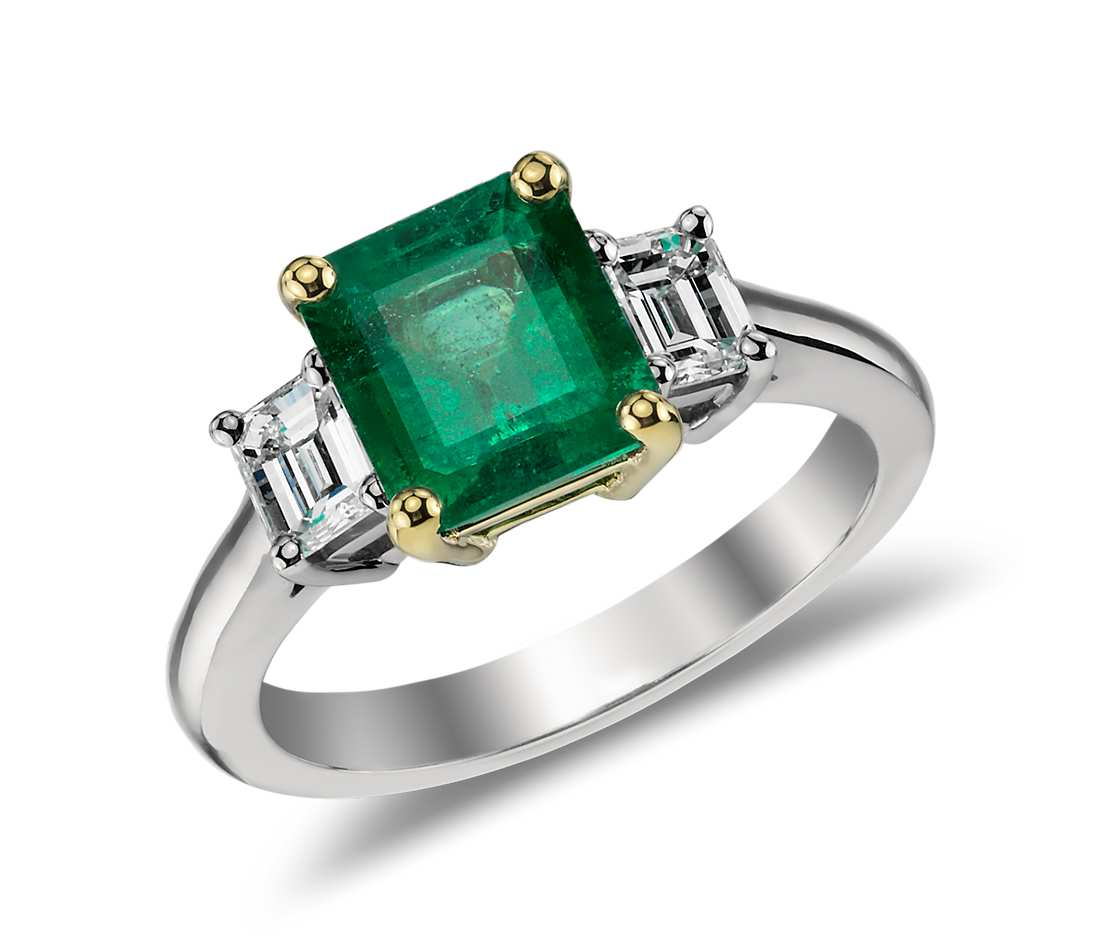 Emerald and Diamond Ring in 18k White and 18k Yellow Gold (2.01ct center) $12,500