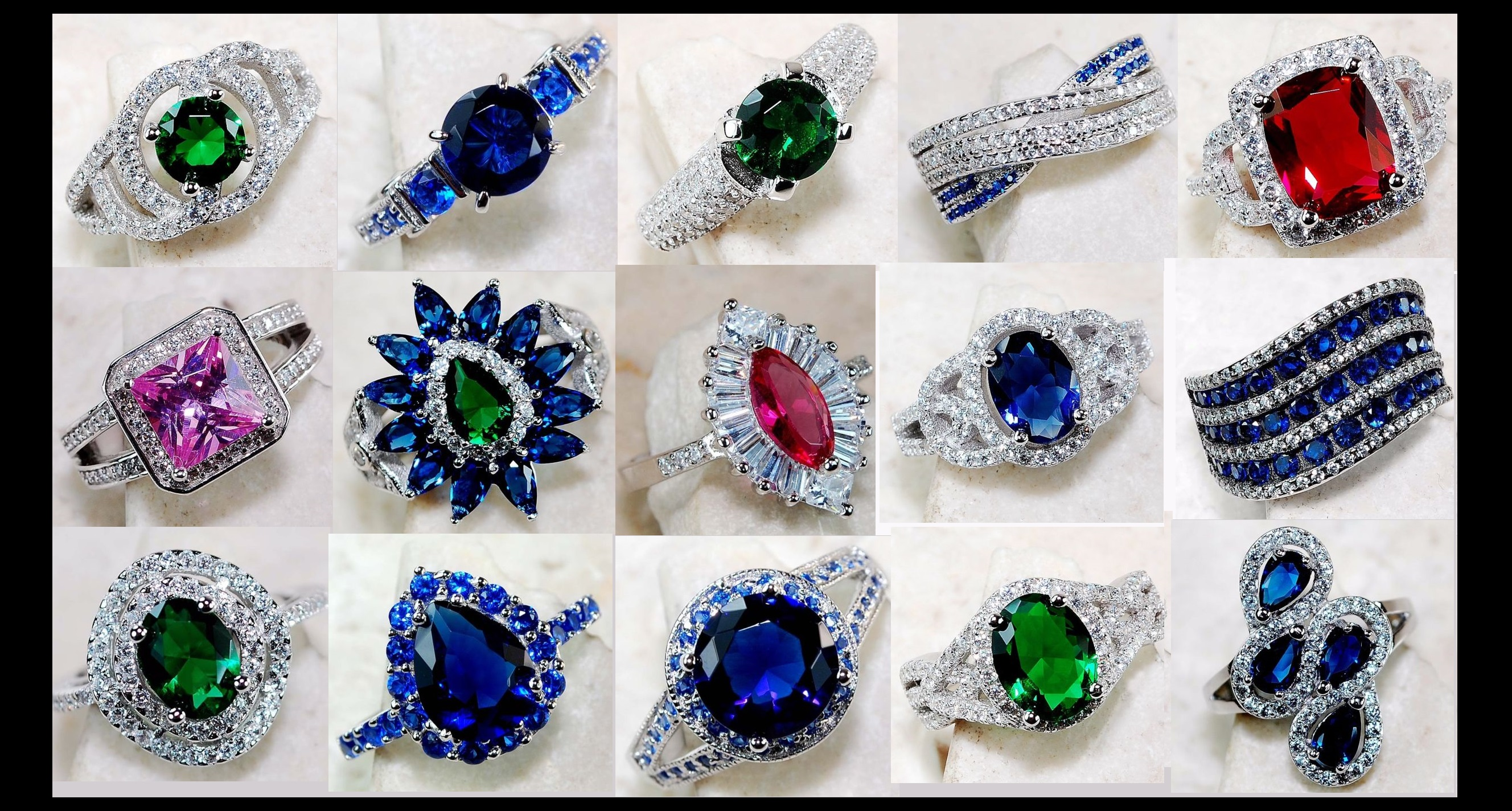 Gorgeous Gemstone Sterling Silver Rings