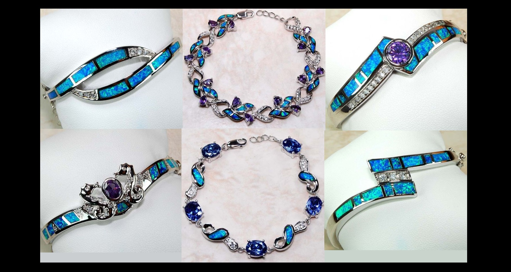 Gorgeous Gemstone Sterling Silver Bracelets at Ring Lovers Jewelry