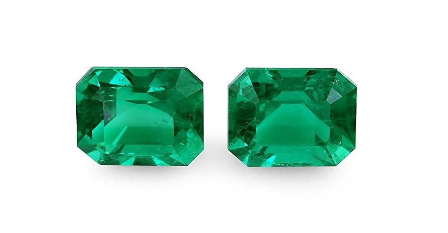 A 9.29 carats Emerald cut gemstone, Emerald, Gubelin Measurements: 10.96x8.93x7.14
