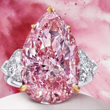 An Exquisite 12.02 Carat Pear Cut Pink Diamond Ring