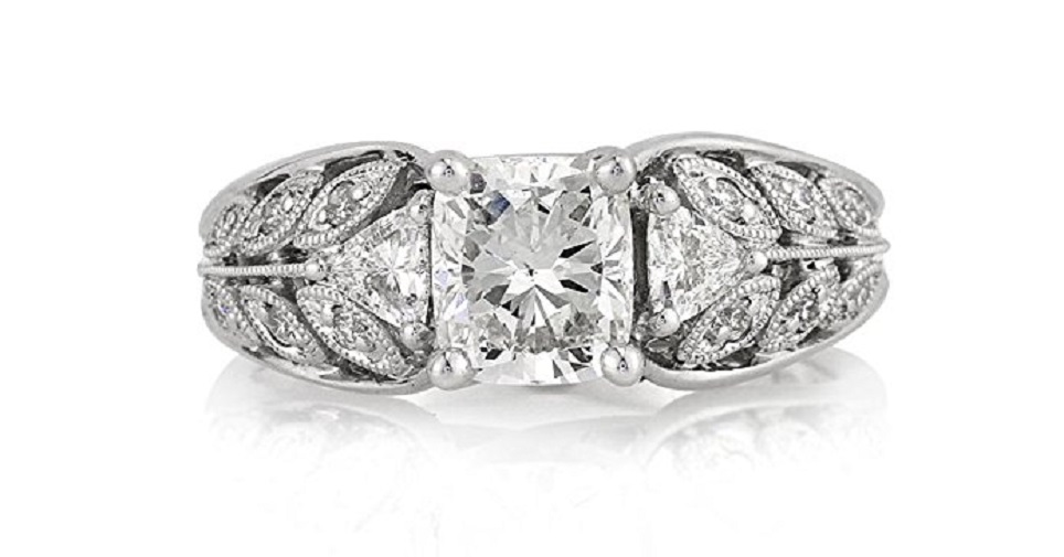 1.76ct Cushion Cut Diamond Engagement Ring by Mark Broumand Price: $9,195.00