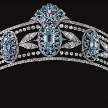Belle Epoque Aquamarine and Diamond Tiara, Circa 1910