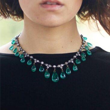 Unique Baroque Emerald Gemstone Necklaces