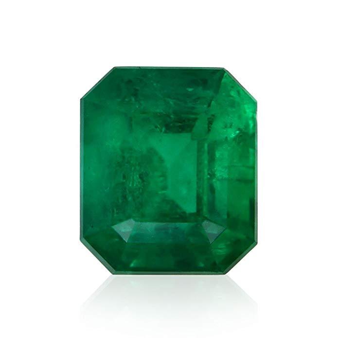 2.03Cts Green Emerald Loose Gemstone Emerald Cut