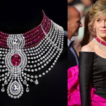 """Reine Makéda"" Diamond and Ruby Choker by Cartier"