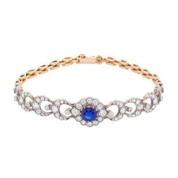 Edwardian Sapphire and Diamond Bracelet, circa 1910