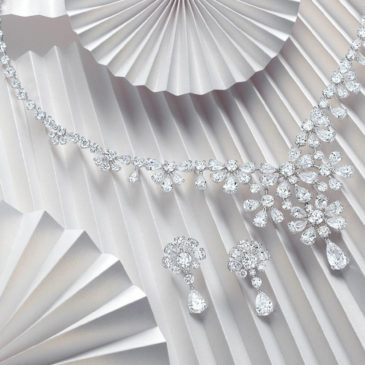 Exquisite Diamond Necklace and Earrings by David Morris The London Jeweller