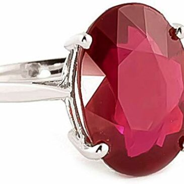8.18 Carat 14k Solid Yellow Gold Ring with Oval-shaped Brilliant Vibrant Ruby