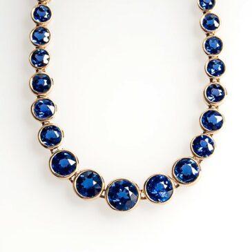 Rare Yogo Gulch Montana Sapphire Necklace and Bracelet Set